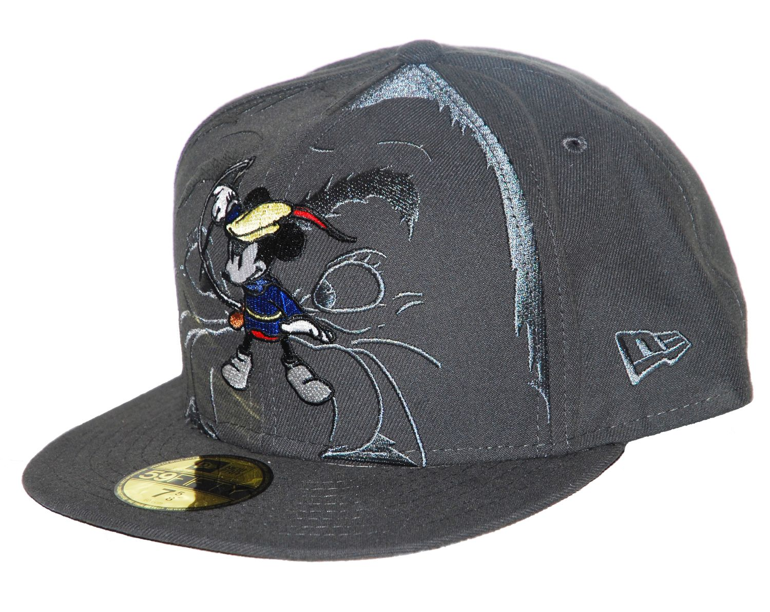NEW-ERA-59-Fifty-Cap-MICKEY-MOUSE-Grau-Baseball-Muetze